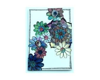 Paper Flower Garden Series on White (PFGW-0006)