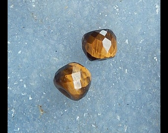 Tiger Eyes Faceted Earring Beads,10x8mm,3.0g