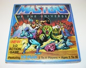 He-Man Masters of the Universe MOTU 3D Action Board Game 1983 VINTAGE RARE!!!