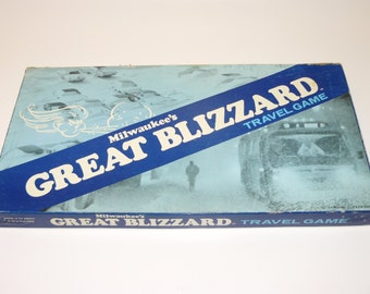 Vintage Milwaukee Great Blizzard Travel Game 1978 Board Game - Wisconsin - Rare