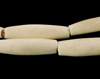 White Bone Trade Beads Kenya Africa 28 Inch 103144