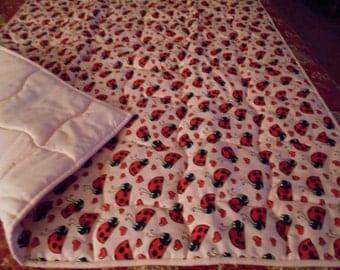 Baby Quilt Ladybug/Red Ladybugs Handmade  Baby  Infant Size  Quilt Comforter Blanket  40 X 36