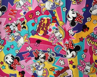 One yard Disney fabric Minnie mouse printed