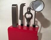 Georges Briard Red Enamel Bar Tool Set