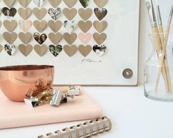 Unique Wedding guest book - Heart guestbook, 3d guest book alternative, rustic wedding sign in frame