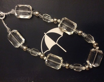 Handmade Hexagonal Large Crystal Unique Necklace