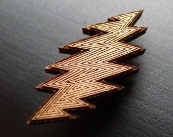 Lightning Bolt - Wooden Hat Pin