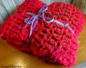 SUPER Soft Handmade Throw, Blanket, Red, Snuggly, Machine Washable, All Season, Ready to Ship, Minky, Blankie, Afghan, Valentine
