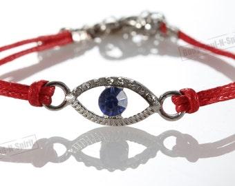 Sacred Evil Eye Bracelets STRING Kabbalah Lucky Charm Spiritual Jewelry Judaica Israel power strength #B2s_color_Ev1_Silver_No-text_1