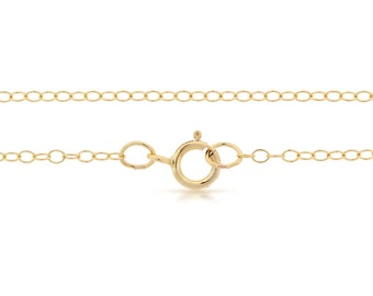 Finished Chains with spring ring clasp 14Kt Gold Filled 1.6x1.3mm 18 Inch Cable Chain - 1pc (2809)/1