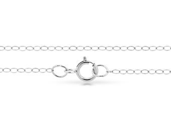 """Sterling Silver 2.2x1.5mm 20"""" Flat wire cable chain - 1pc Finished chain Wholesale Price (4154)/1"""