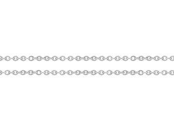 Sterling Silver 1.5x1.2mm Flat Cable Chain - 5ft (8065-5) Made in USA 10% Discounted