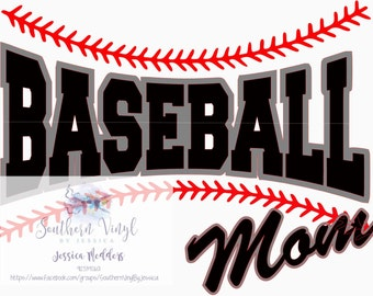 Baseball Mom SVG File For Cutting Machine