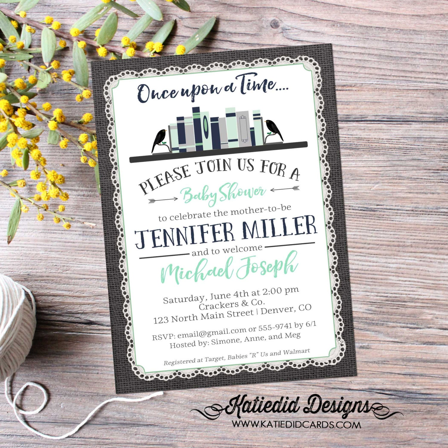 storybook surprise gender reveal once upon a time baby shower book ...