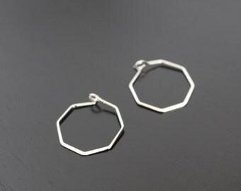 Silver Ear Wire, Hook Earrings, Earring Findings,  2 pc, JW6472