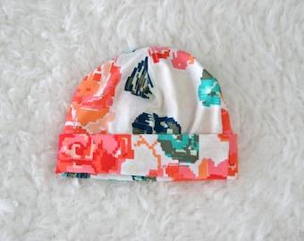 Newborn to Three Months Baby Hat