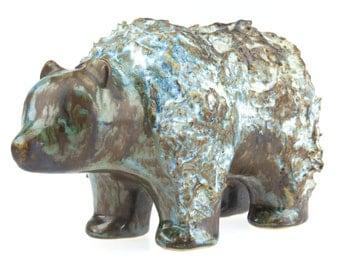 Vintage Mid Century Ego Stengods Lidkōping Swedish Ceramic Bear.. made in Sweden..