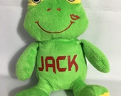 Personalized GREEN FROG Stuffie
