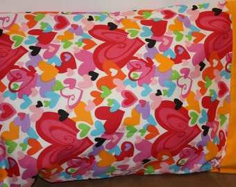 Heart Pillowcase   Toddlers/Travel or Standard Size
