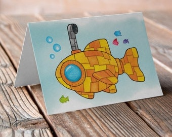 Yellow Submarine Greetings card
