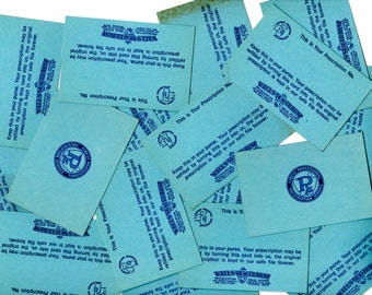 SALE - 15 Vintage Unused Small Personal Prescription Record Cards - Wells-Yeager-Best Co Lafayette Indiana
