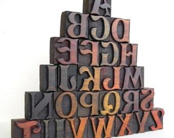 A to Z - Vintage Letterpress Designer Wood Type Collection - LP49