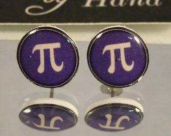 Pi Stud Earrings - Math jewelry
