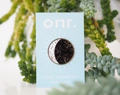Moon Phase Enamel Pin // moon pin - enamel pin - lapel pin - enamel jewellery - pin badge