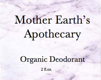Organic Deodorant 1/4 oz sample.