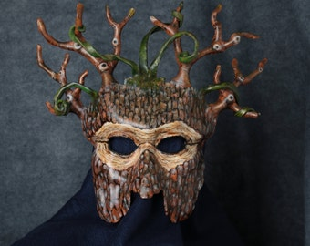 Tree Masks, Leather Tree Masks, The Woods, Trees, Tree People, Branches, Connection to Heaven and Earth.