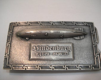 Belt Buckle Vintage Hindenburg 1936-37 Belt Buckle Made In 1976 FREE SHIPPING