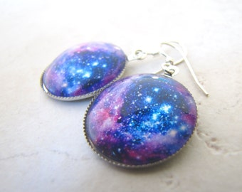 Space Earrings, Galaxy Earrings, Nebula Earrings, Cosmos Earrings, Star Earrings, Sky Earrings