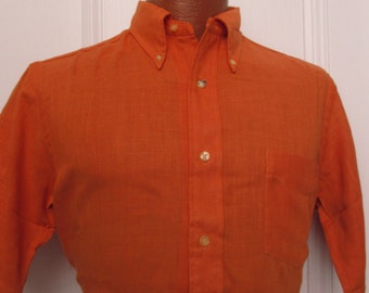 60's Vintage Men's Mod Preppy Button Down Shirt med. deadstock