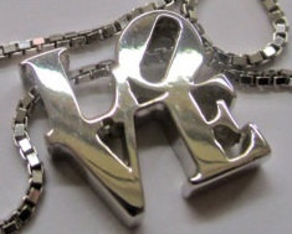 LOVE Park/ LOVE Sculpture / LOVE Statue  necklace in sterling silver