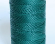 waxed nylon cord, macrame cord, waxed polyester cord, blue-green, DARK TEAL, 0.8 mm. flat braid, jewelry making, friendship bracelet,