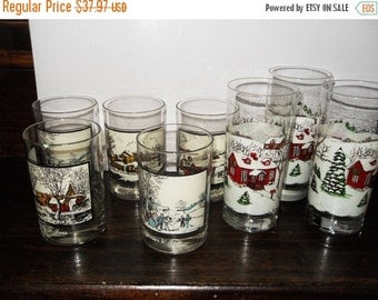 Vintage Currier and Ives Glasses from 1978 Arby's