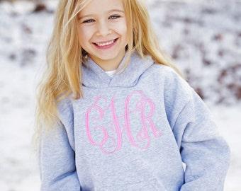 Children's Monogrammed Sweatshirt- Monogrammed Hoodie- Embroidered Jacket- Embroidered Hoodie