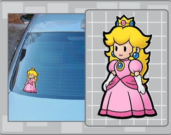 PRINCESS PEACH Cartoon Vinyl Decal No. 1 from Super Mario Bros. Paper Mario NES Sticker