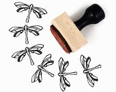Dragonfly Stamp - Hand Drawn Summer Firefly Bug Rubber Stamp by Creatiate