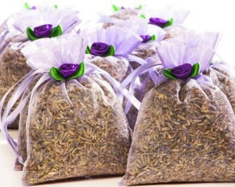 BULK LAVENDER SACHETS: 20-count (decorated) Zziggysgal French Lavender Sachets