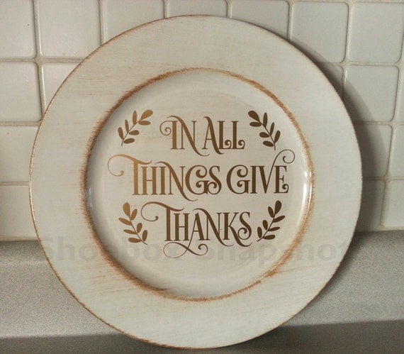 Items Similar To Thanksgiving Charger Plates Personalized