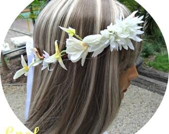 Rustic Wedding Flower Crown Boho Flower Headband Flower Headpiece Woodland Floral Crown Wedding Flower Crown Bridal Flower Crown Headpiece