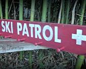 Ski Patrol Sign~Distressed~Coat Hanger~Towel Rack