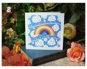 Can't Have A Rainbow... - Large Greeting Card by Paper Panda