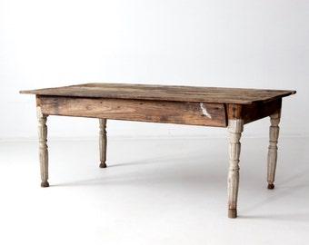 FREE SHIP antique American farm table