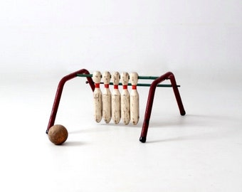 vintage bowling game, Five Pins by Mansfield Zesiger Mfg Co.