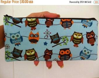 Sale Owls Pencil case-Riley Blake