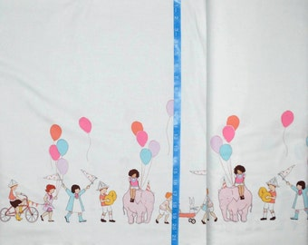 Michael Miller. Children at Play. On Parade (double border print) - BTY Cotton Fabric - Choose your cut