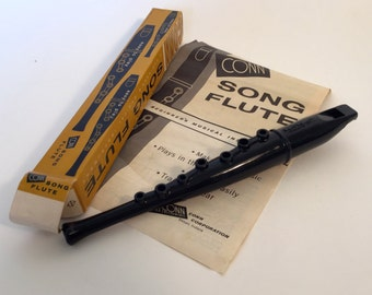 Vintage 1960s Conn Song Flute Recorder complete and new in box