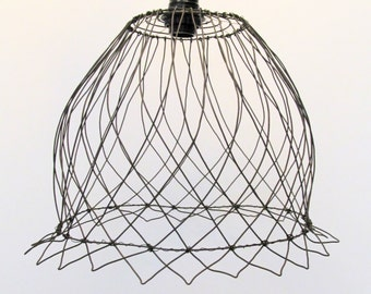 Wire Basket -- Large Handmade --Hanging Lampshade  or Basket Container